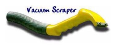 Vacuum Scraper - Absaug Kratzer - Ziehklinge für Antifouling-Entfernung