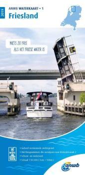 ANWB Water Kaart 1 Friesland Binnen Seekarte
