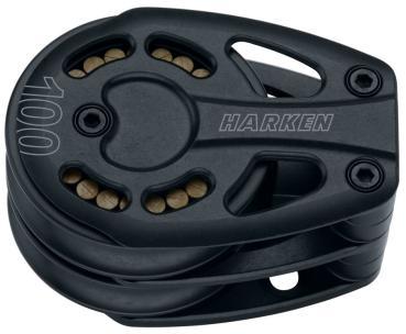 HARKEN 3250 Black Magic Air Block 100mm Umlenkblock - Zweier - Festmoniert