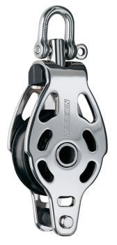 HARKEN 6089 Cruising ESP Block aus rostfreiem Edelstahl 57mm - Einfach -  Wirbel - Hundsfott