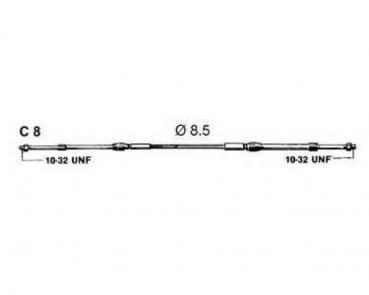 Ultraflex C8 Schalt- / Gaskabel für Außenborder